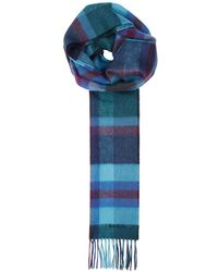Paul Smith - Checked Cashmere Scarf - Lyst