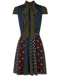 Alice + Olivia - Sandra Polka Dot Dress - Lyst