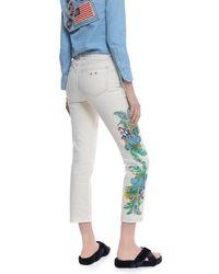 Mr & Mrs Italy - Printed Jeans Slim Panama Denim - Lyst