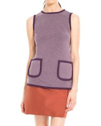 Max Studio - Heathered Bonded Jersey Tunic - Lyst