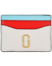 Marc Jacobs - Tri-tone Leather Card Holder - Lyst