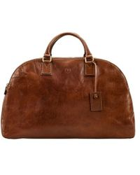 Maxwell Scott Bags - Women S Italian Crafted Tan Leather Luggage Bag - Lyst