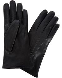 Dents -  Fur-Lined Leather Gloves - Lyst