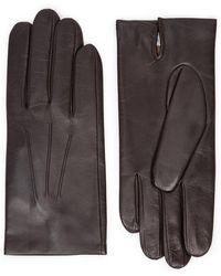 Dents - Bath Dark Brown Leather Gloves - Lyst