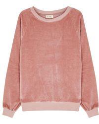 American Vintage - Isacboy Rose Velour Sweatshirt - Lyst