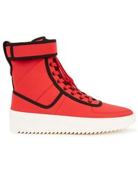 Fear Of God - Red Neoprene Hi-top Trainers - Lyst