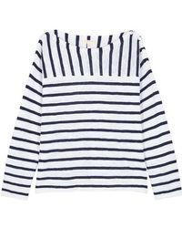 Eileen Fisher - Striped Organic Linen Blend Top - Lyst