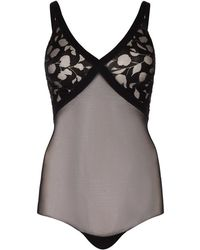 Wolford - Amelia Devoré Tulle Shaping Body - Lyst
