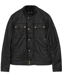 Belstaff - Racemaster Black Coated Cotton Jacket - Size 40 - Lyst