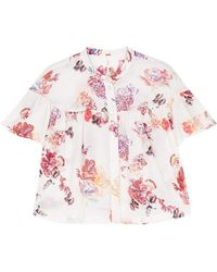 Free People | Sweet Escape Floral-print Cotton Shirt | Lyst