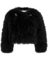 Erdem - Ives Black Feather Jacket - Lyst