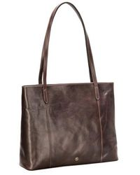 Maxwell Scott Bags - Brown Leather Shopper - Lyst