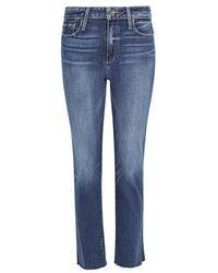 PAIGE - Jacqueline Cropped Straight-leg Jeans - Lyst