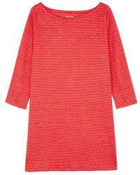Eileen Fisher - Striped Organic Linen Jersey Top - Lyst