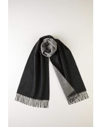 Johnstons - Charcoal & Grey Contrast Reversible Cashmere Scarf - Lyst