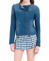 Max Studio - Washed Indigo Knitted Jacket - Lyst