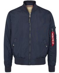 Alpha Industries - Ma1-tt Blue Shell Bomber Jacket - Size M - Lyst