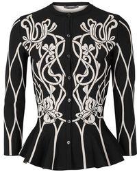 Alexander McQueen - Art Nouveau Jacquard-knit Cardigan - Lyst