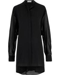 Amanda Wakeley - Sinai Black Pleat Shirt - Lyst