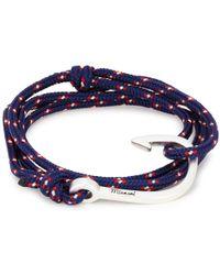 Miansai - Navy Hook Rope Wrap Bracelet - Lyst
