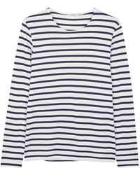 J.Lindeberg - Striped Cotton Blend Top - Lyst