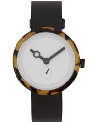 Aark Collective - Classic Tortoiseshell Stainless Steel Watch - Lyst