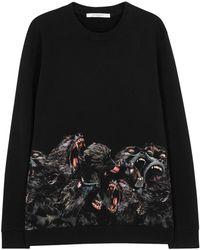 Givenchy - Black Monkey-print Cotton Sweatshirt - Lyst