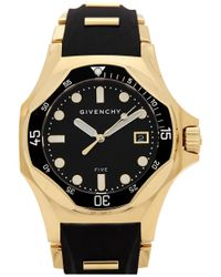 Givenchy - Five Shark Gold-plated Watch - Lyst