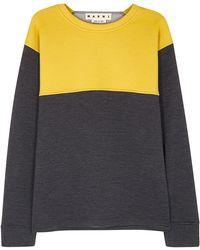 Marni - Mustard And Charcoal Scuba Sweatshirt - Lyst