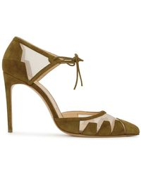 Bionda Castana - Lana Olive Pointed Suede Court Shoes - Lyst