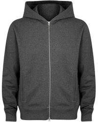 Acne Studios - Johna Grey Hooded Cotton Sweatshirt - Lyst
