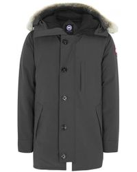 Canada Goose - Chateau Charcoal Fur-trimmed Twill Parka - Size Xxl - Lyst