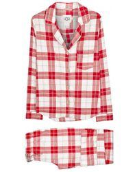 UGG - Raven Plaid Flannel Pyjama Set - Size L - Lyst