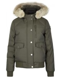 Pajar - Margaret Army Green Fur-trimmed Parka - Size Xs - Lyst