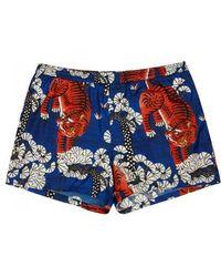 Gucci - Bengal Printed Swim Shorts - Size W32 - Lyst