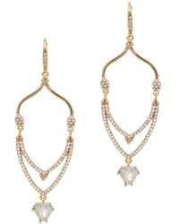Jenny Packham - Wanderlust Gold-plated Drop Earrings - Lyst