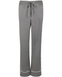 Equipment - Avery Star-print Washed Silk Trousers - Lyst