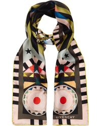 Givenchy - Egyptian Wings Printed Silk Scarf - Lyst