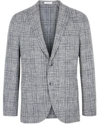 Boglioli - Checked Jacquard Wool-blend Jacket - Lyst