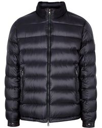 Moncler - Rodez Navy Quilted Shell Jacket - Lyst