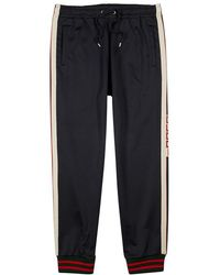 Gucci - Logo-intarsia Stretch-jersey Jogging Trousers - Lyst