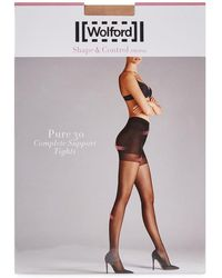 Wolford | Pure Fairly Light 30 Denier Support Tights - Size M | Lyst