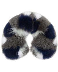 Yves Salomon - Colour-block Fur Collar - Lyst