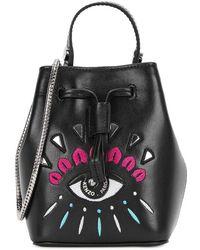 KENZO - Iconic Eye Mini Leather Bucket Bag - Lyst