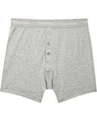 Calvin Klein - Grey Cotton Boxer Briefs - Size Xl - Lyst