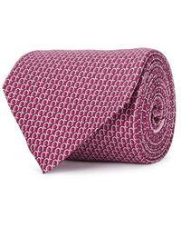 Ferragamo - Fuchsia Gancini-print Silk Tie - Lyst