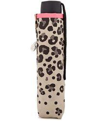 Fulton - Minilite 2 Leopard-print Umbrella - Lyst