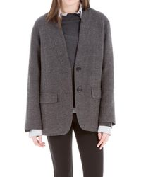 Max Studio - Wool Twill Jacket - Lyst