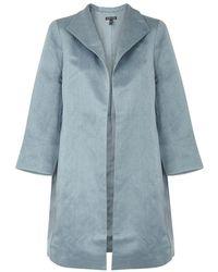 Eileen Fisher - Light Blue Linen-blend Jacket - Lyst