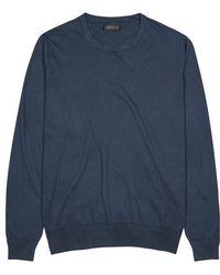 Corneliani - Navy Cotton Jumper - Lyst
